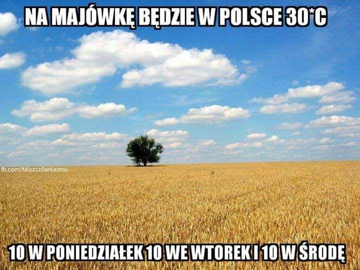Na Majówkę będzie w Polsce