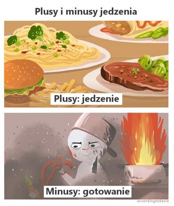 Plusy i minusy jedzenia