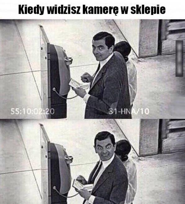 Kiedy widzisz kamerę w sklepie