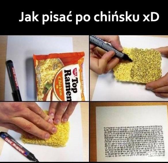Jak pisać po chińsku xD