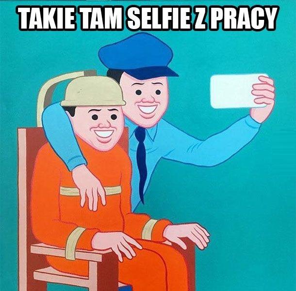 Selfie z pracy xD