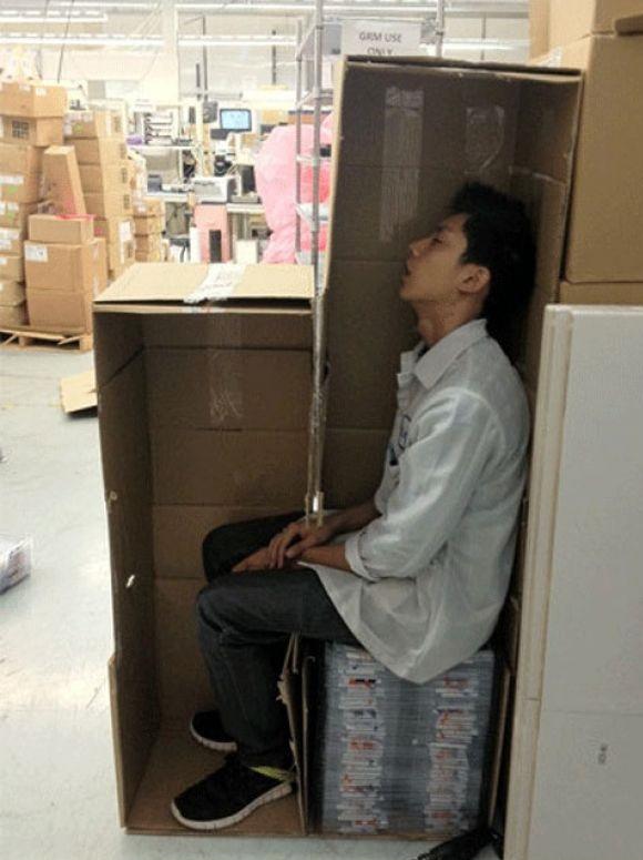 Spanie w pracy xD
