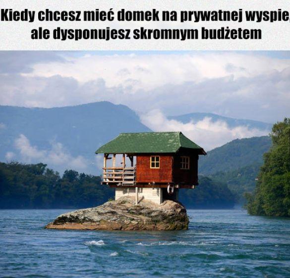 Domek na prywatnej wyspie