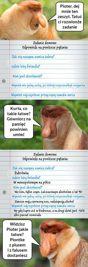 Janusz rozwiązuje Pioterowi zadania xD