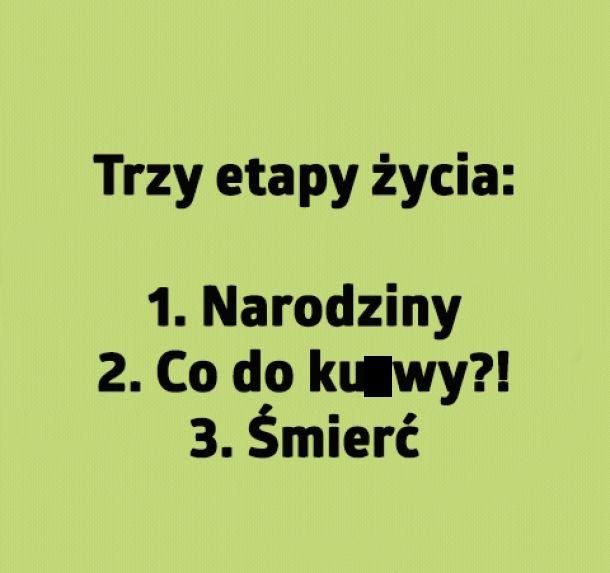 Trzy etapy życia
