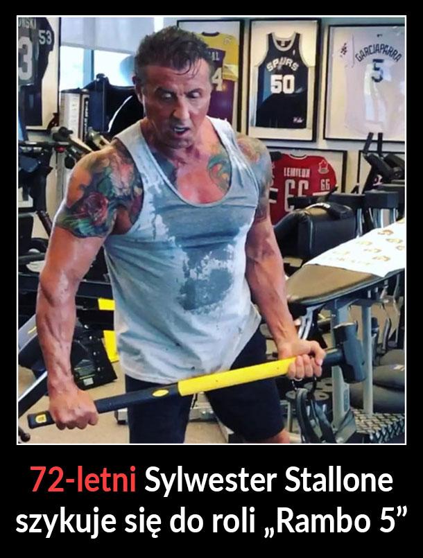 72 letni Sylwester Stallone
