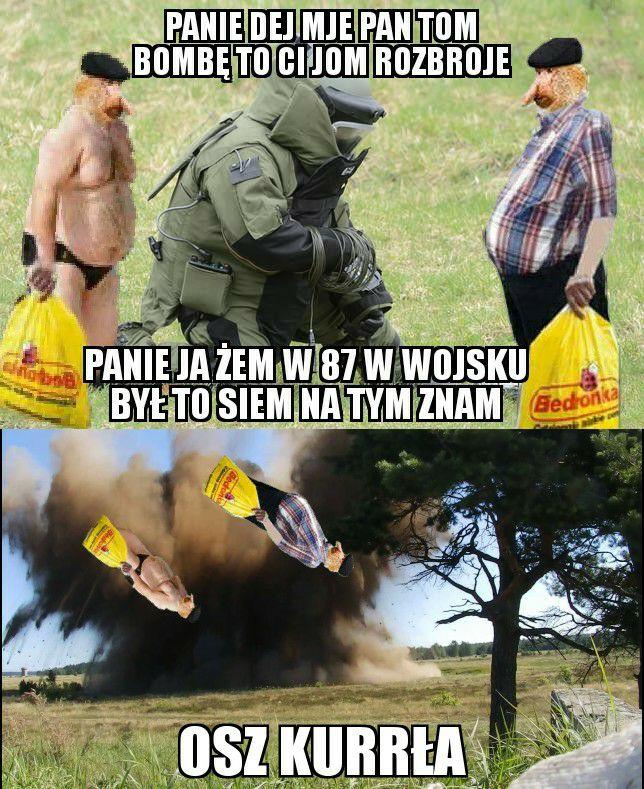 Janusz chce rozbroić bombę xD