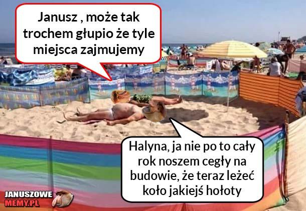 Janusze plażowania