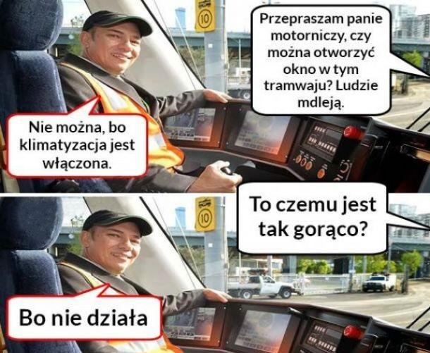 Taka sytuacja w tramwaju