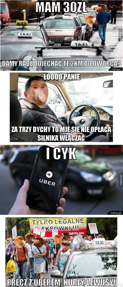 Typowy taksiarz w akcji xD