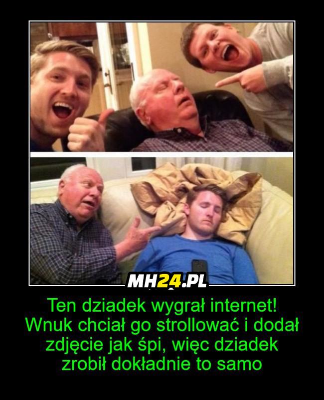Dziadek wygrał internety xD