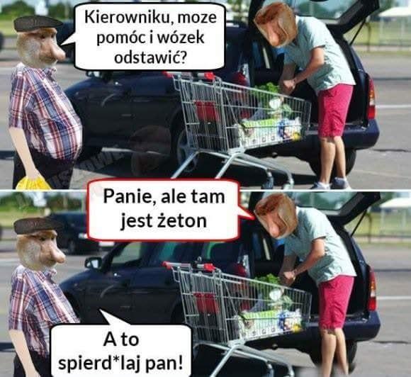 Kiedy Janusz chce odstawić wózek