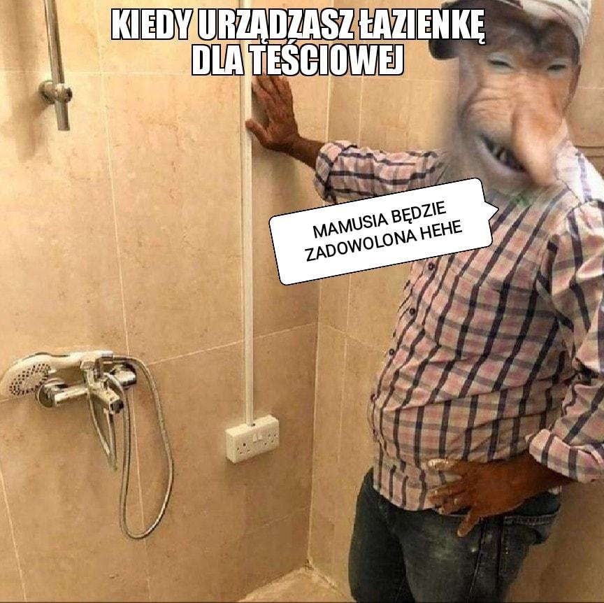 Kiedy urządzasz łazienkę dla teściowej