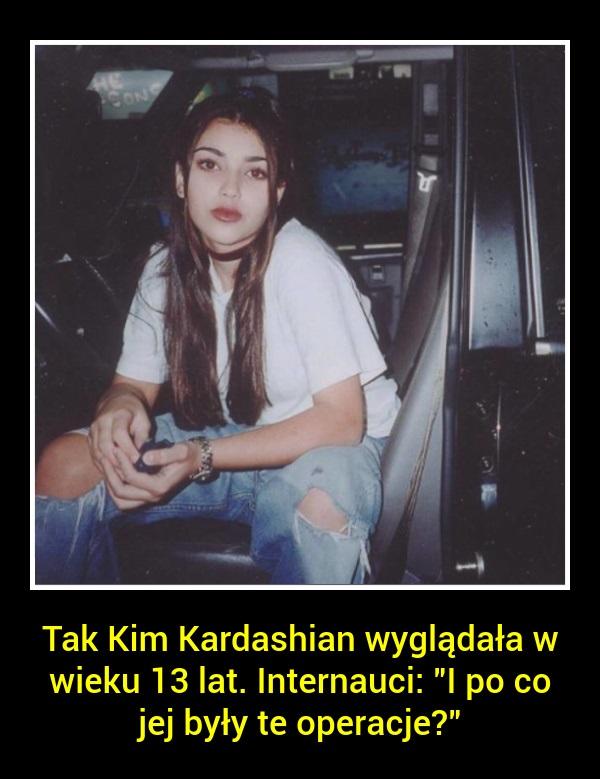 Tak Kim Kardashian wyglądała w wieku 13 lat