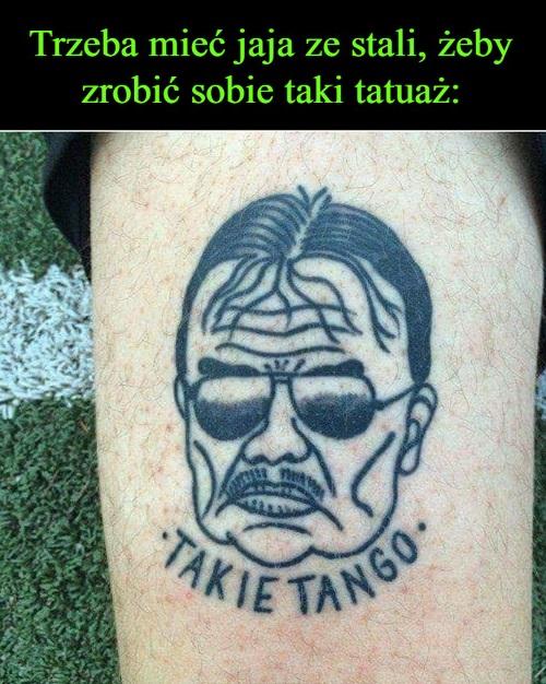 Trzeba mieć jaja ze stali żeby zrobić sobie taki tatuaż