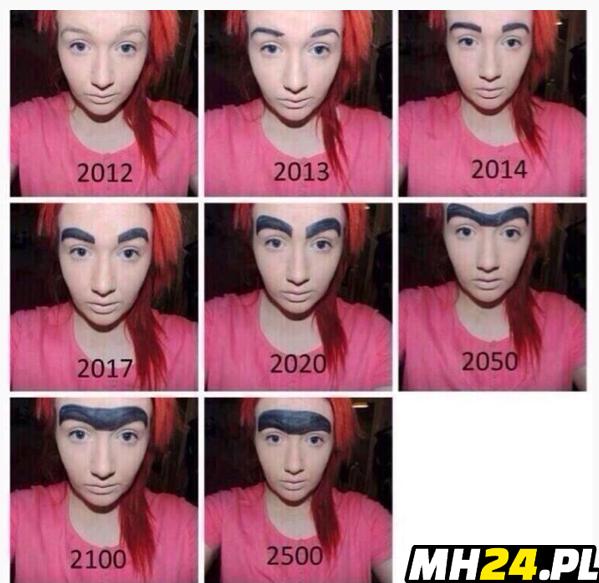 Ewolucja brwi