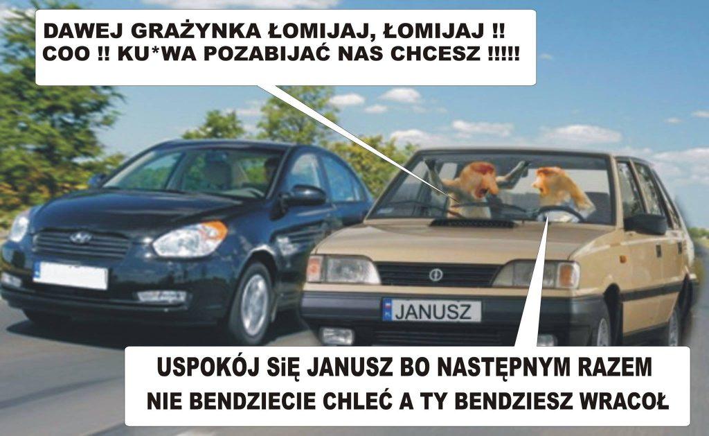 Janusz i Grażyna w aucie xD