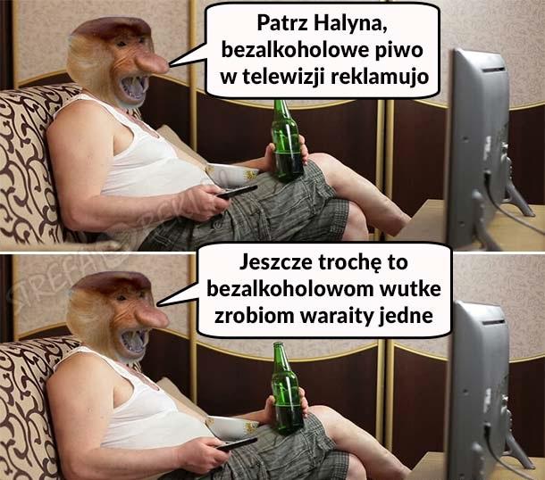 Janusz i reklama bezalkoholowego piwa