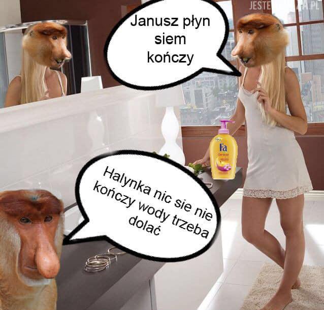 Janusz płyn się kończy