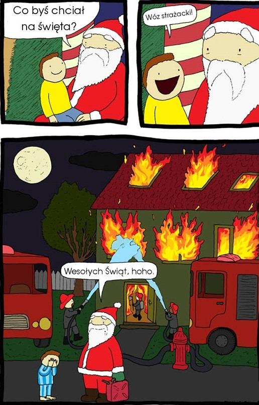 Mikołaj wziął życzenie tego dzieciaka zbyt dosłownie
