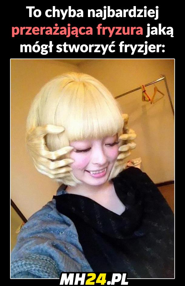 To chyba najbardziej przerażająca fryzura