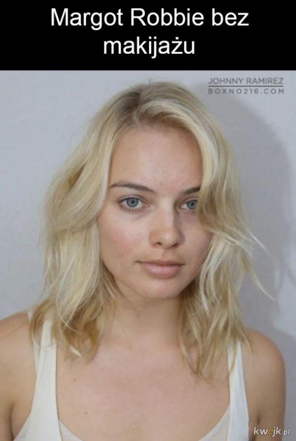 Margot Robbie bez makijażu