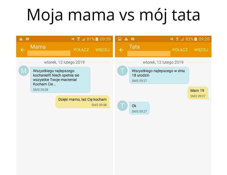 Moja mama vs mój tata