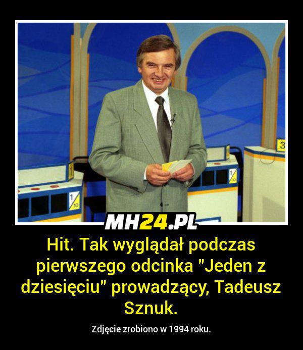 Tak 1994 roku wyglądał Tadeusz Sznuk