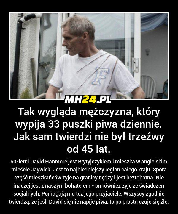 Ten mężczyzna wypija dziennie 33 puszki…
