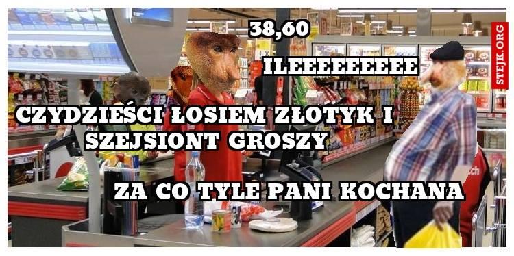 Typowy Janusz w markecie