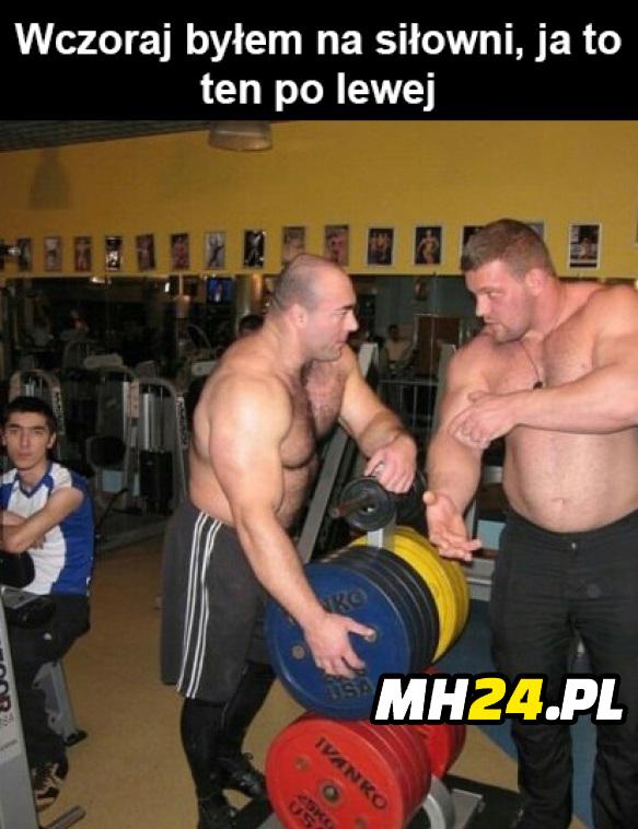 Byłem na siłowni ja to ten po lewej xD