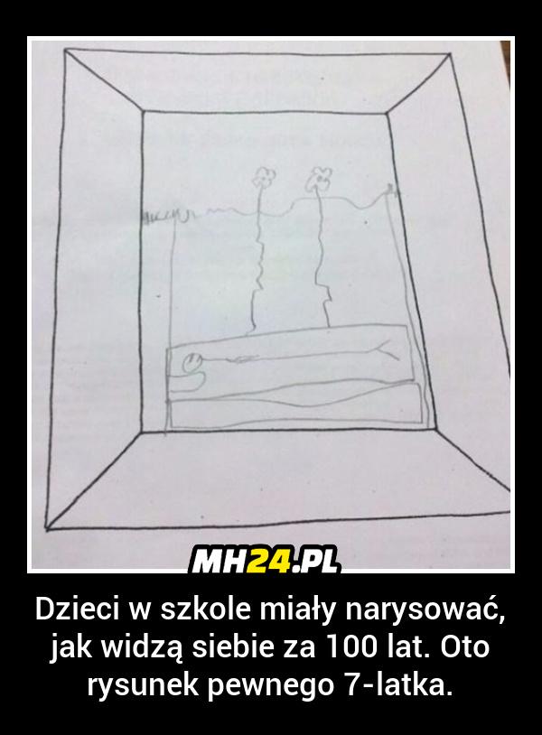 Dzieci w szkole miały narysować jak widzą siebie za 100 lat