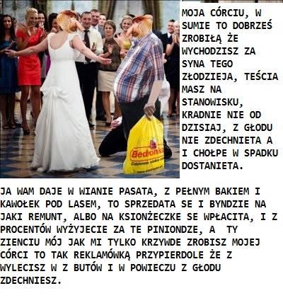 Janusz przemawia na weselu córki
