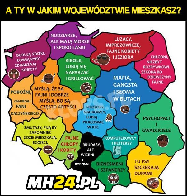 W jakim województwie Ty mieszkasz