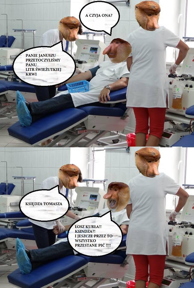 Kiedy Janusz dostał krew xD