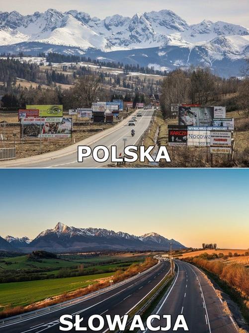 Różnica między polskimi i słowackimi górami
