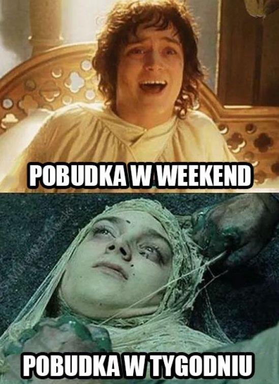 Pobudka w weekend vs pobudka w tygodniu