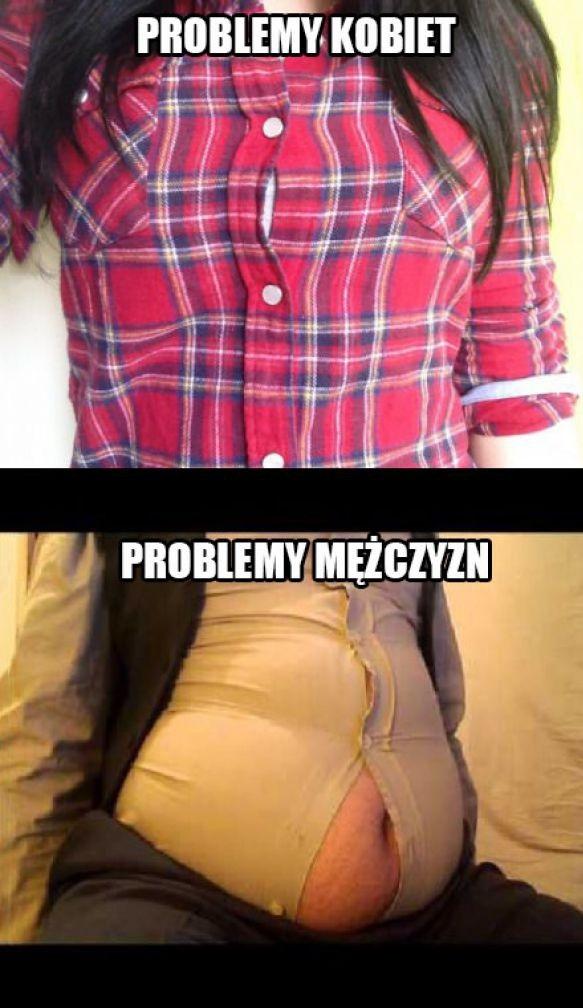 Problemy kobiet vs problemy mężczyzn