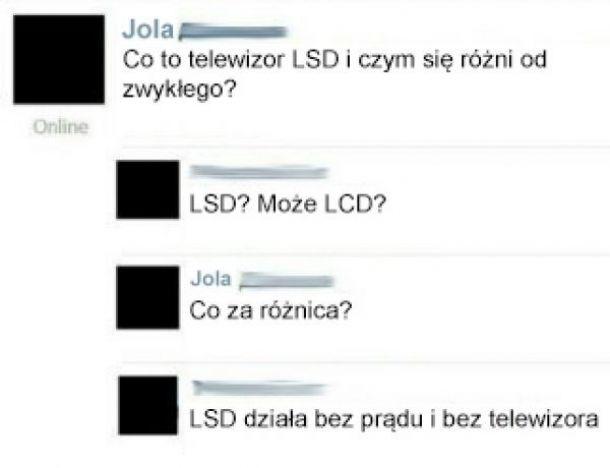 Telewizor LSD xD