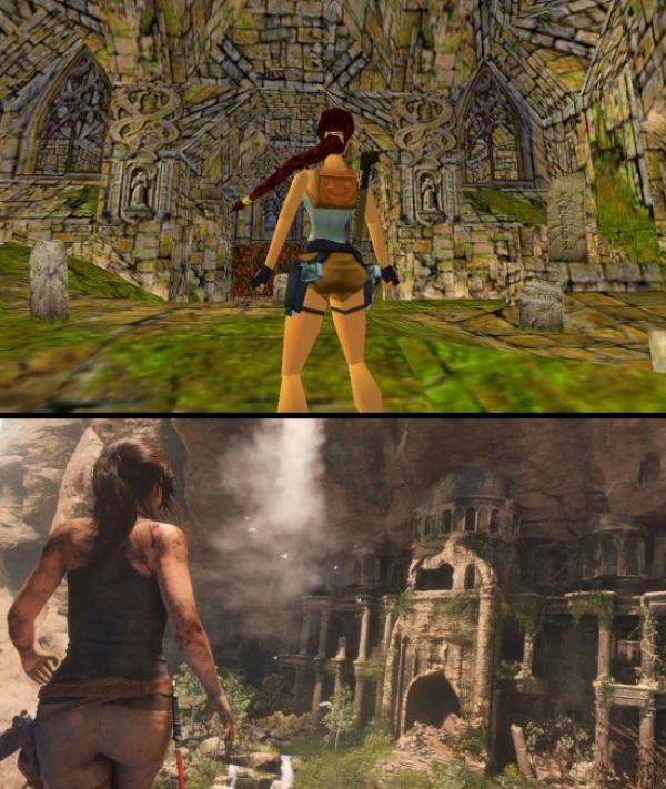 Lara Croft kiedyś i dziś