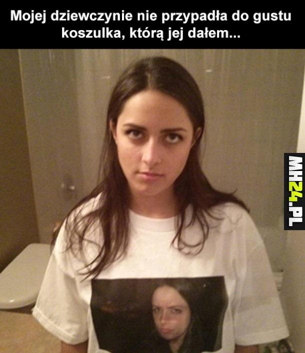 Nie przypadła jej do gustu koszulka