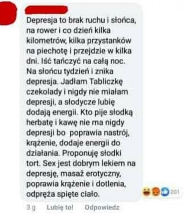 Sposób na depresję xD