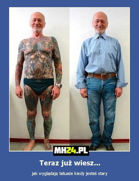 Tak wyglądają tatuaże na starość