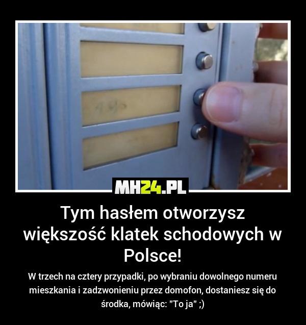 Tym hasłem otworzysz większość klatek schodowych w Polsce