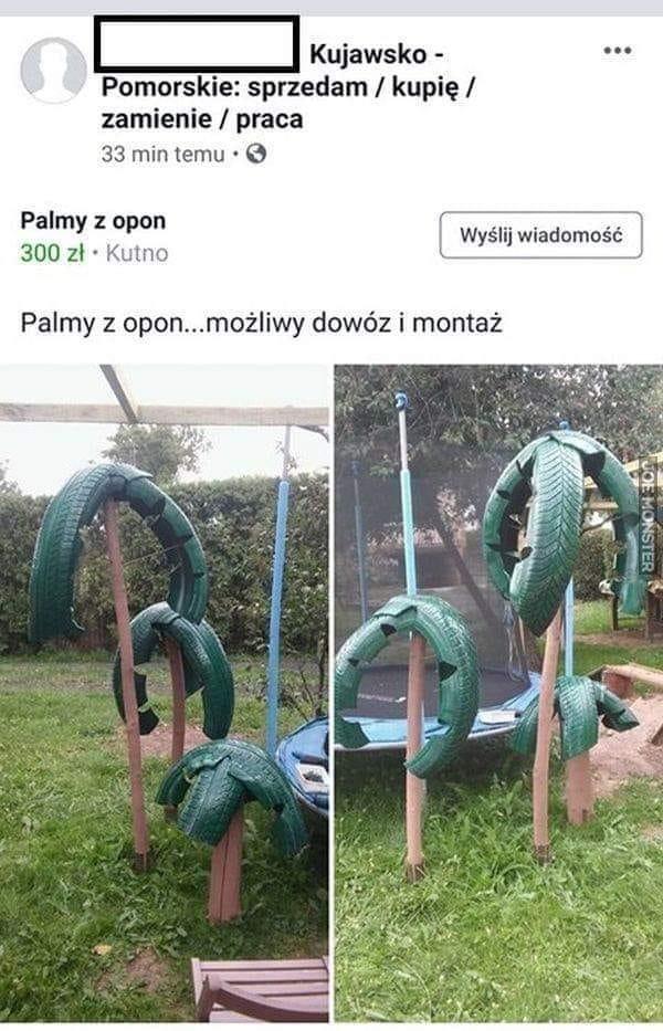 Palmy z opon