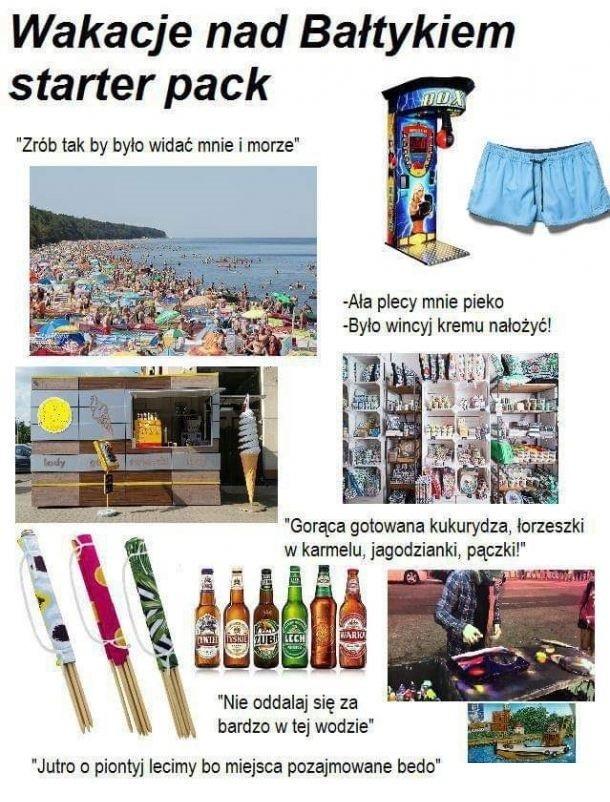 Wakacje nad Bałtykiem starter pack