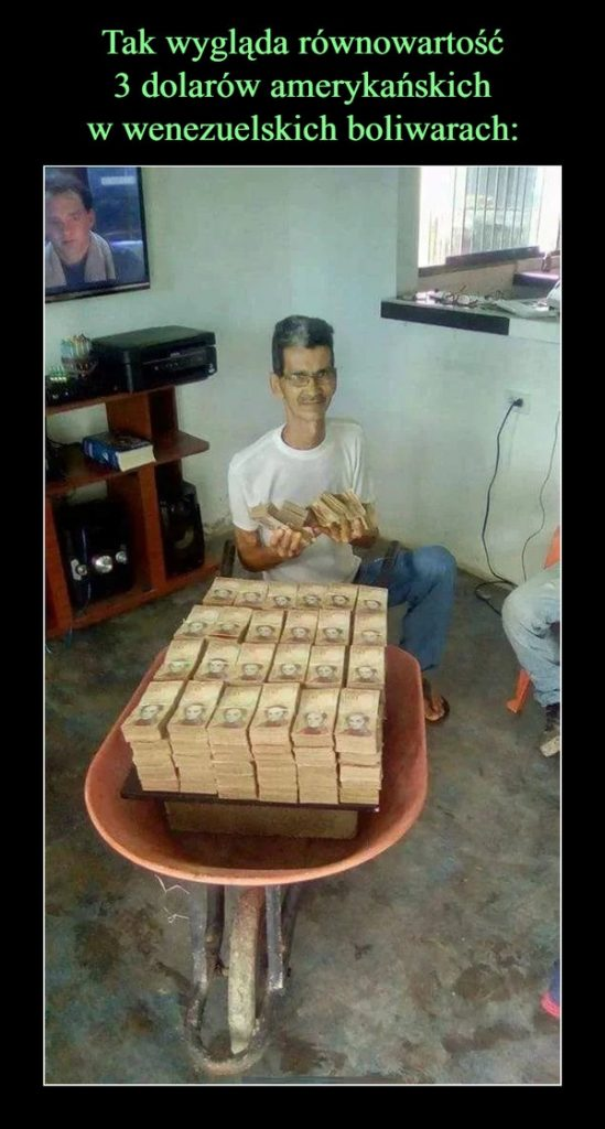 3 dolary amerykańskie w wenezuelskich boliwarach