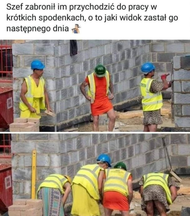 Kreatywni pracownicy na budowie