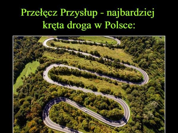 Najbardziej kręta droga w Polsce