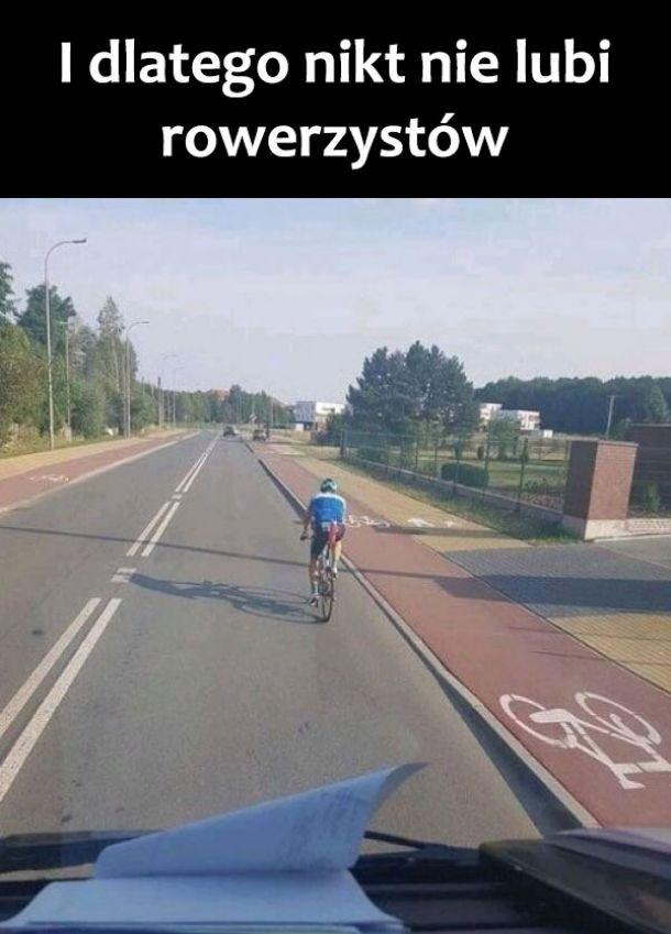To dlatego nikt nie lubi rowerzystów